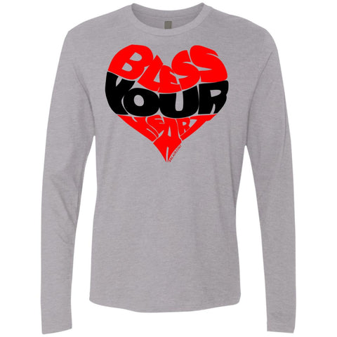BLESS YOUR HEART BLK Men's Longsleeve