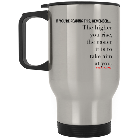 Higher You Rise Silver Stainless Travel Mug