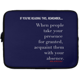 WITH YOUR ABSENCE Laptop Sleeve - 13 inch
