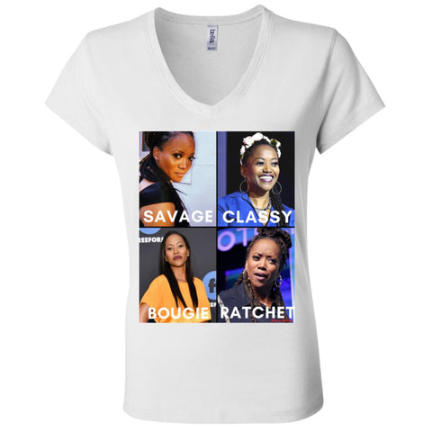 ERIKA ALEXANDER #SAVAGE Women's V-Neck