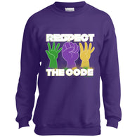 Respect The Code (White) Youth Crewneck Sweatshirt