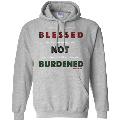 BLESSED NOT BURDENED MAN AFRICAN Pullover Hoodie