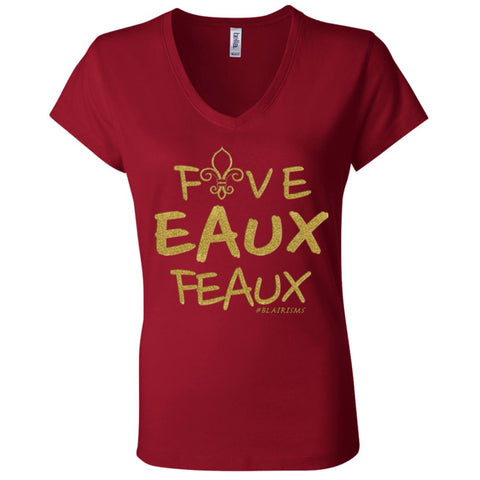 FiveEAUXFeaux GOLD Women's V-Neck