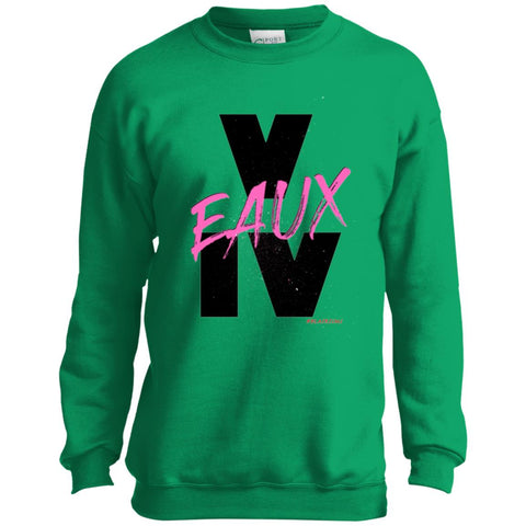 V EAUX IV (PNK) Youth Crewneck Sweatshirt