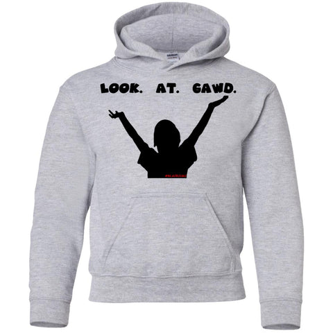 LOOK AT GAWD1 Youth Pullover Hoodie