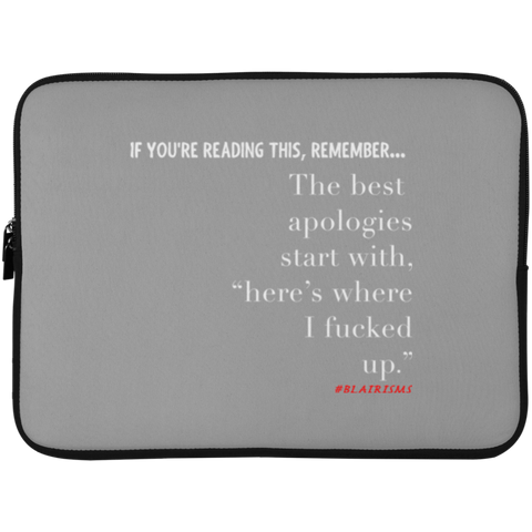 THE BEST APOLOGIES Laptop Sleeve - 15 Inch