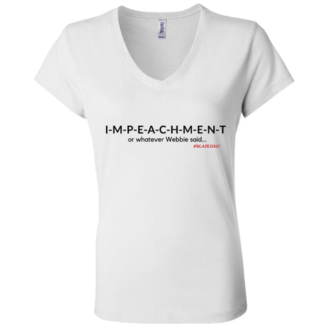 IMPEACHMENT BLACK Women's V-Neck