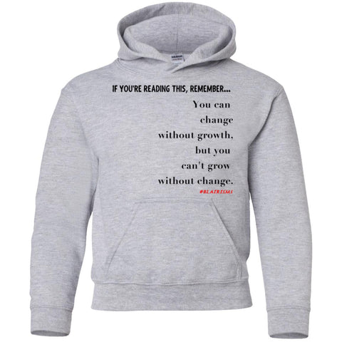 Grow Without Change Youth Pullover Hoodie
