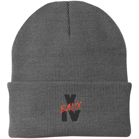 V EAUX IV RED Knit Cap