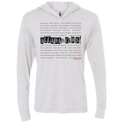 BLACK MAGIC ALLDAFUCKDIS Unisex Longsleeve Hooded T-shirt