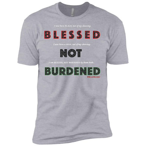BLESSED NOT BURDENED MAN AFRICAN Men's Crew