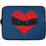 BLESS YOUR HEART BLACK Laptop Sleeve - 13 inch