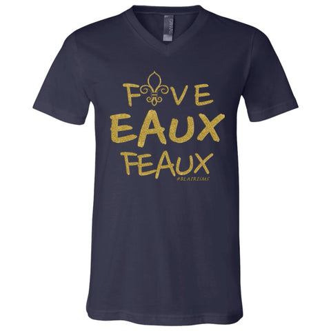 FiveEAUXFeaux GOLD Boy's V-Neck