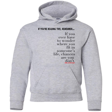 Chances Are Youth Pullover Hoodie