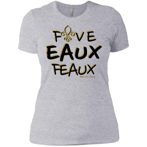 FiveEauxFeaux Black-&-Gold Women's Crew