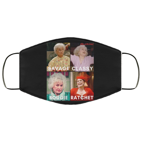 GOLDEN GIRLS  SAVAGE Face Mask (BLACK)