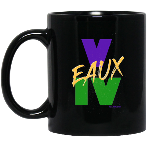 V EAUX IV MG BM11OZ 11 oz. Black Mug