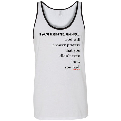PRAYERS YOU DIDN'T KNOW Unisex Tank