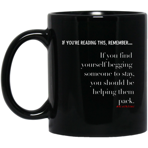 Helping Them Pack 11 oz. Black Mug