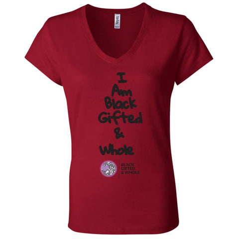 Black, Gifted, & Whole -(black) Women's V-Neck