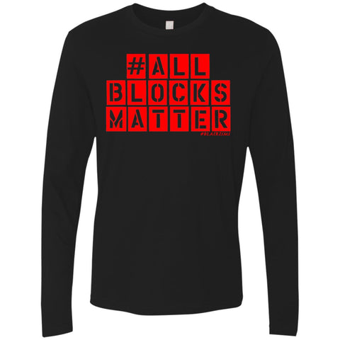 #ALLBLOCKSMATTER (RED) Men's Longsleeve