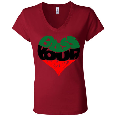 BLESS YOUR HEART Africa Women's V-Neck