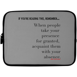 WITH YOUR ABSENCE Laptop Sleeve - 10 inch
