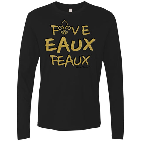 FiveEauxFeaux Gold-&-Black Men's Longsleeve