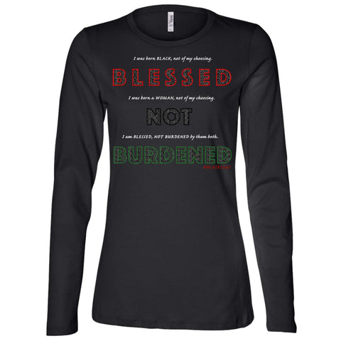 BLESSED NOT BURDENED WOMAN AFRICAN Women's Longsleeve