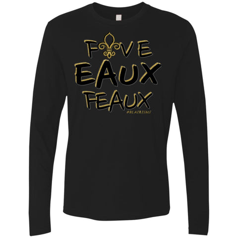 FiveEauxFeaux Black-&-Gold Men's Longsleeve