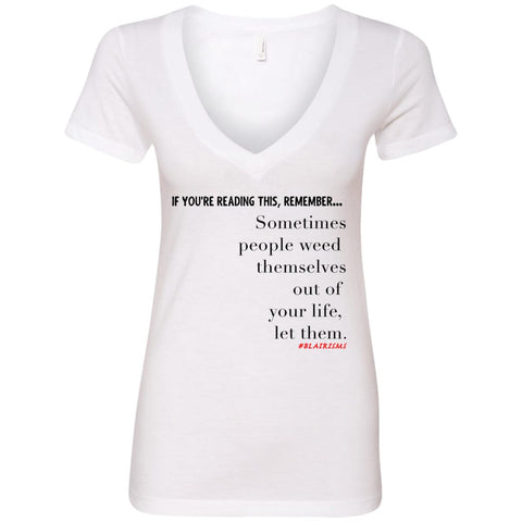 Weed Themselves Out Women's V-Neck