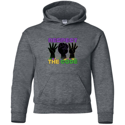 Respect The Code (Mardi Gras) Youth Pullover Hoodie