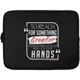 TO REACH FOR SOMETHING GREATER white red Laptop Sleeve - 13 inch