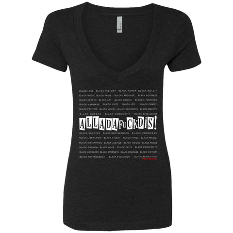 BLACK MAGIC ALLADAFUCKDIS Women's Deep V-Neck