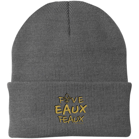 Five EAUX Feaux Knit Cap