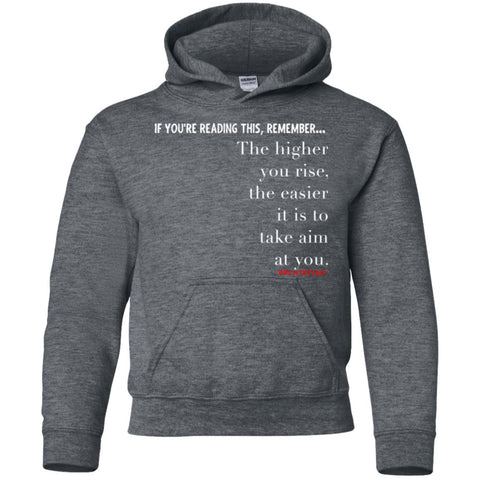 Higher You Rise Youth Pullover Hoodie