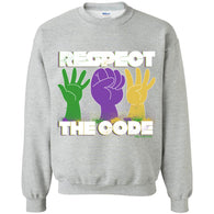 Respect The Code (White) Crewneck Pullover Sweatshirt