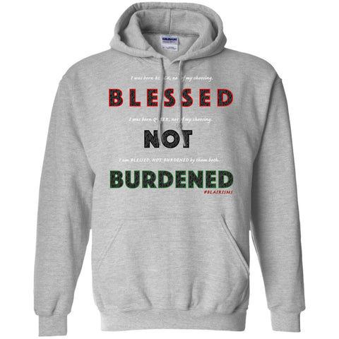 BLESSED NOT BURDENED QUEER AFRICAN Pullover Hoodie