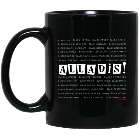 BLACK MAGIC ALLADIS 11 oz. Black Mug