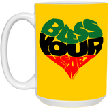BLESS YOUR HEART BLACK 15 oz. White Mug