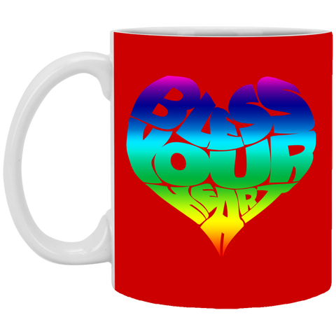 BLESS YOUR HEART (RB) 11 oz. White Mug
