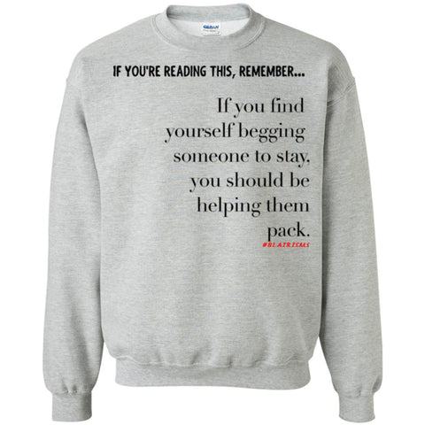 Helping Them Pack Crewneck Pullover Sweatshirt
