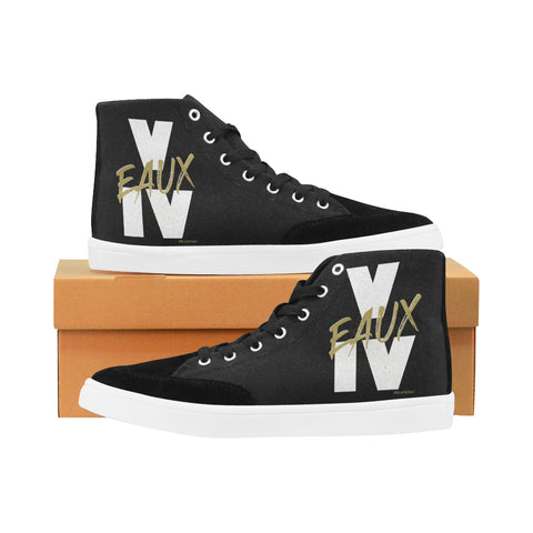 WHITE/GOLD V EAUX IV MEN'S HI-TOP SHOES