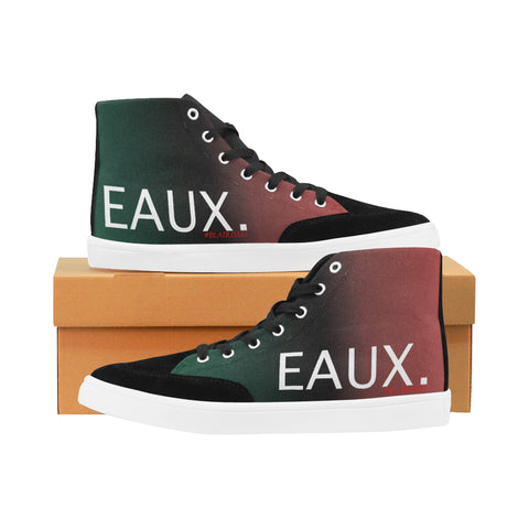 WHITE EAUX. MEN'S HI-TOP SHOES