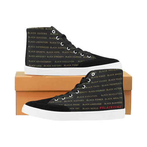 BLACK MAGIC WOMEN'S HI-TOP SHOES