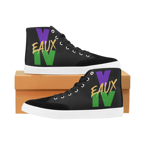 MARDI GRAS V EAUX IV MEN'S & WOMEN'S HI TOP SHOES