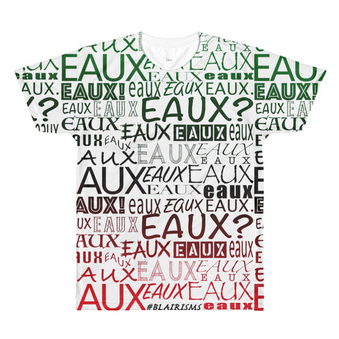 BLACK AND FRONT AllEAUXver Printed T-Shirt