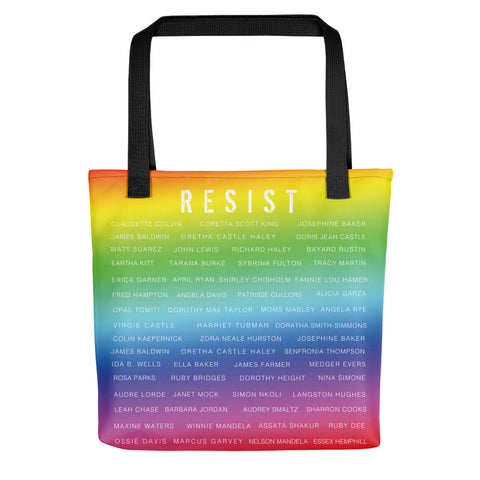 ACTIVIST RESIST RAINBEAUX Tote bag