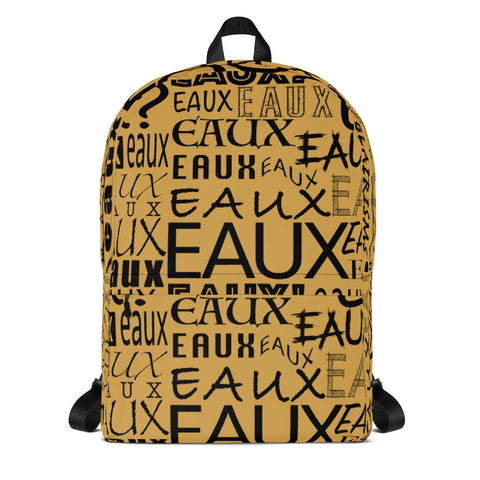 Gold & Black AllEAUXver Backpack