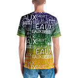 MARDI GRAS/WHITE ALLEAUXVER Men's V-Neck T-shirt